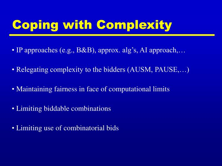 Coping with Complexity