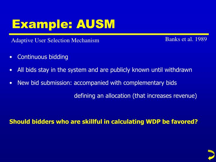 Example: AUSM