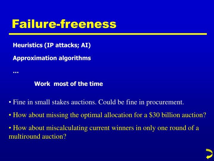 Failure-freeness