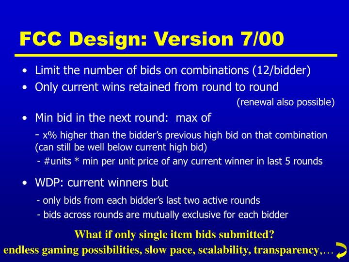 FCC Design: Version 7/00