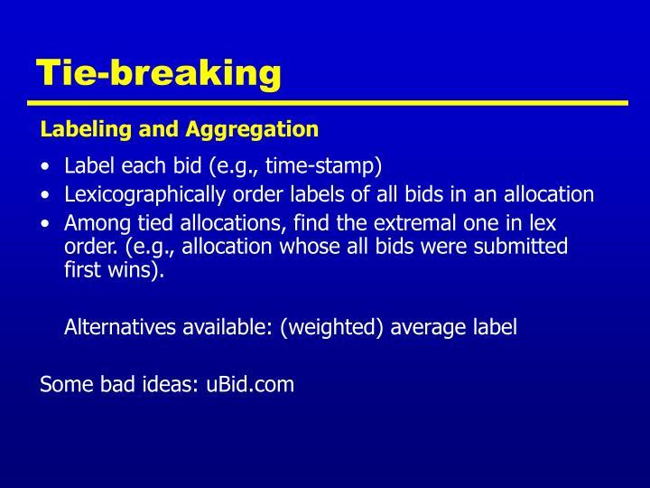 Tie-breaking