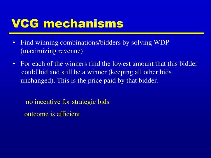 VCG mechanisms
