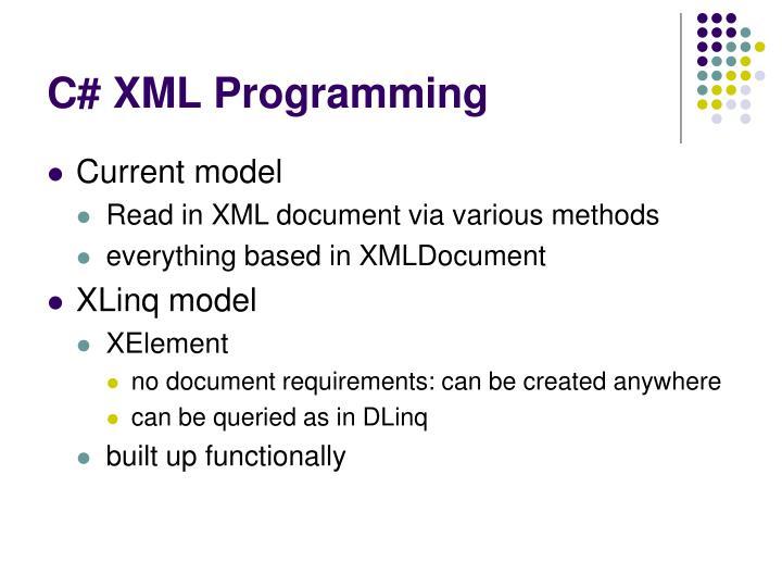 C# XML Programming