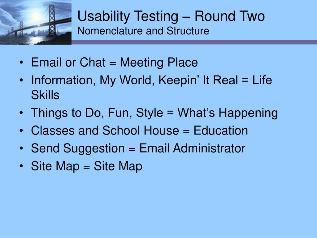Usability Testing – Round Two