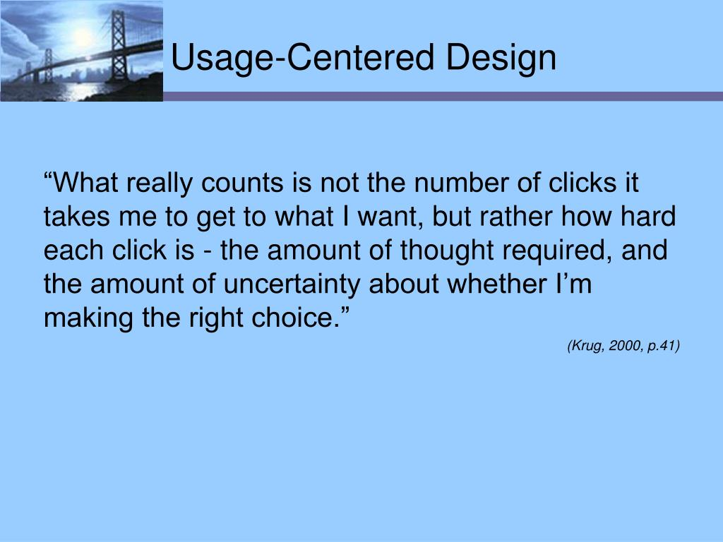 Usage-Centered Design