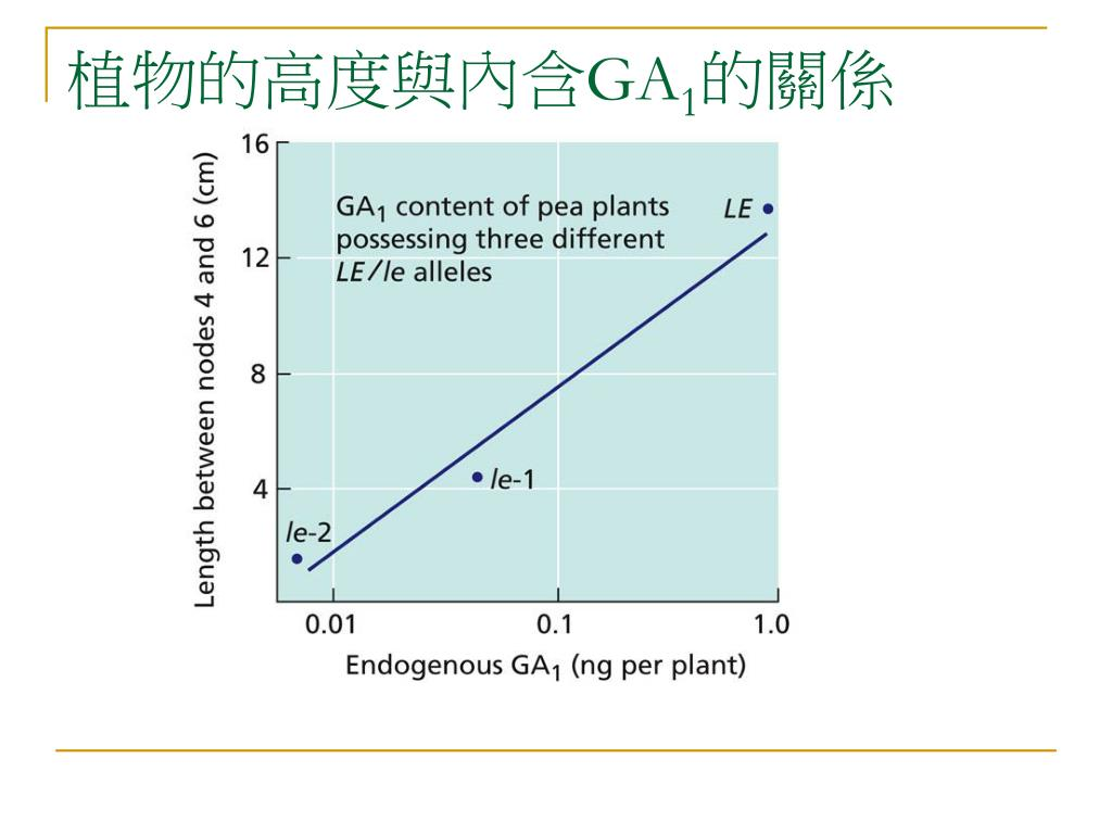 植物的高度與內含