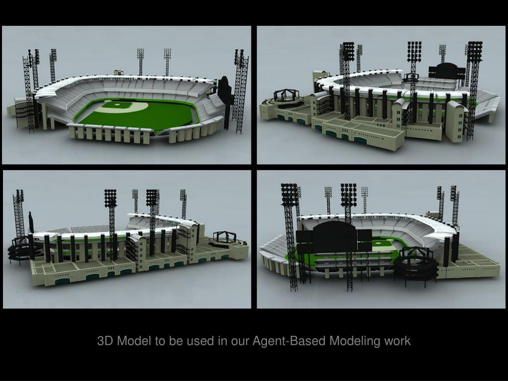 3D Model to be used in our Agent-Based Modeling work