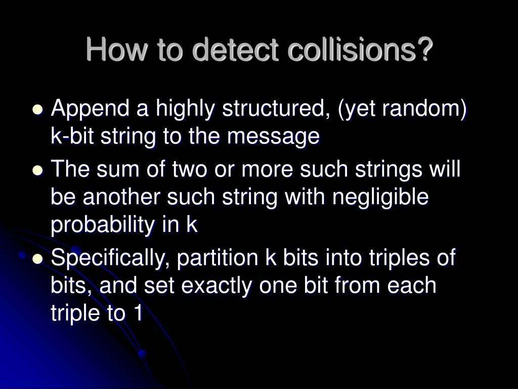 How to detect collisions?