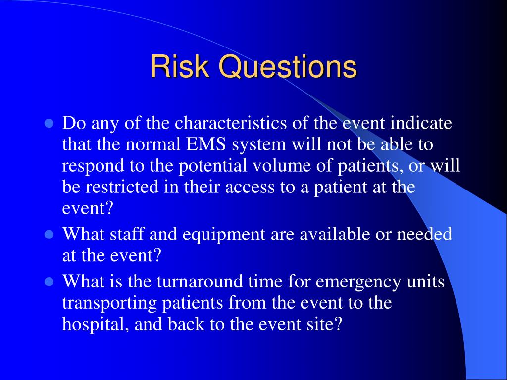 Risk Questions