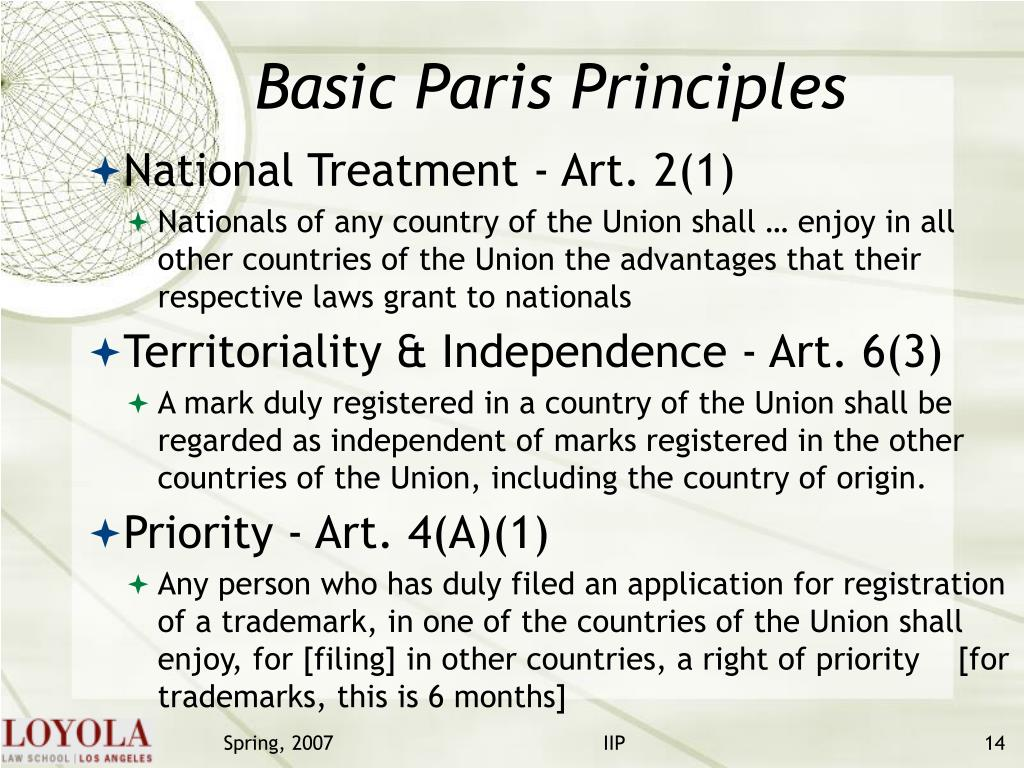 Basic Paris Principles