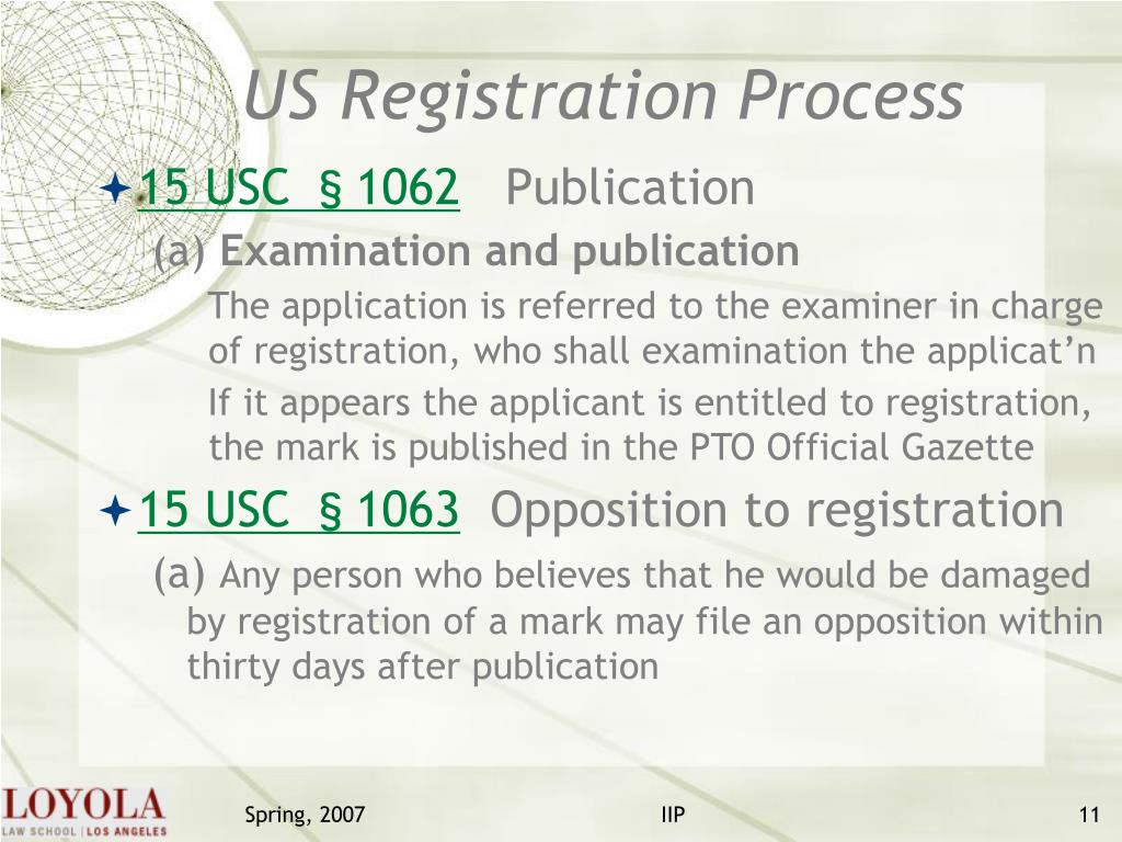 US Registration Process