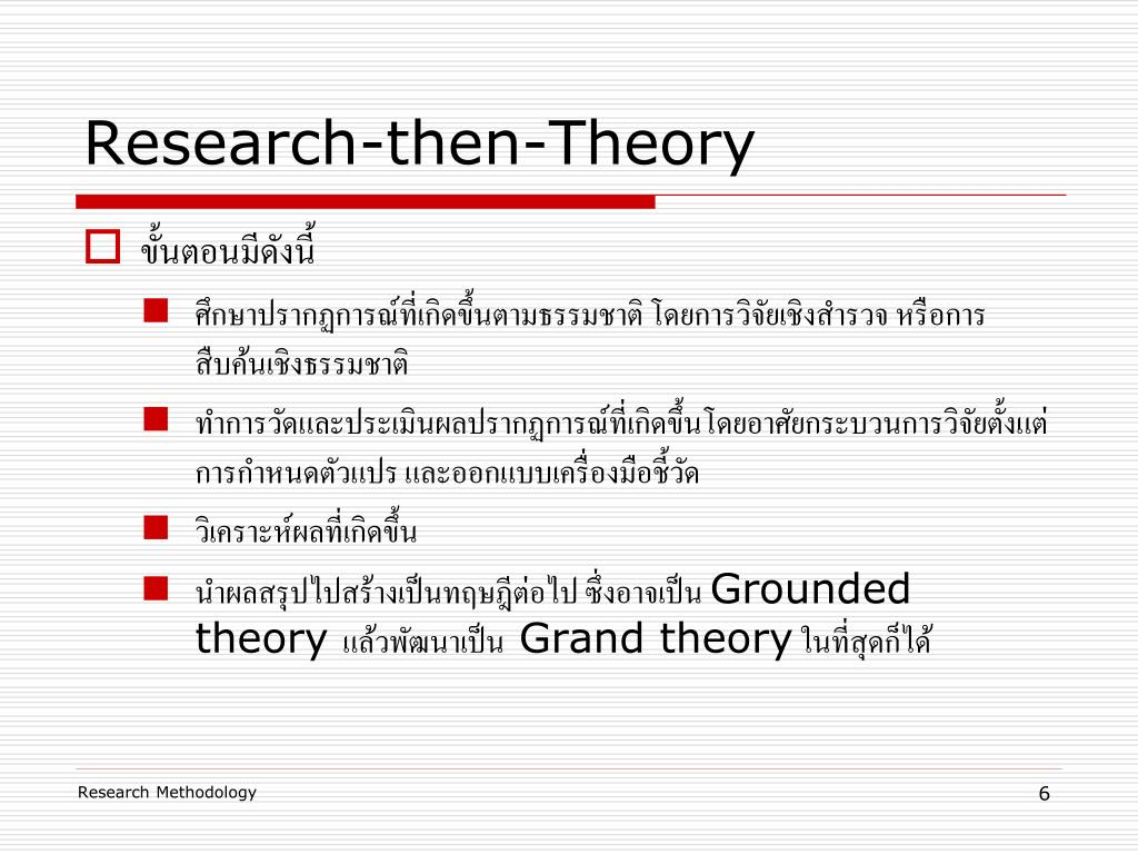 Research-then-Theory