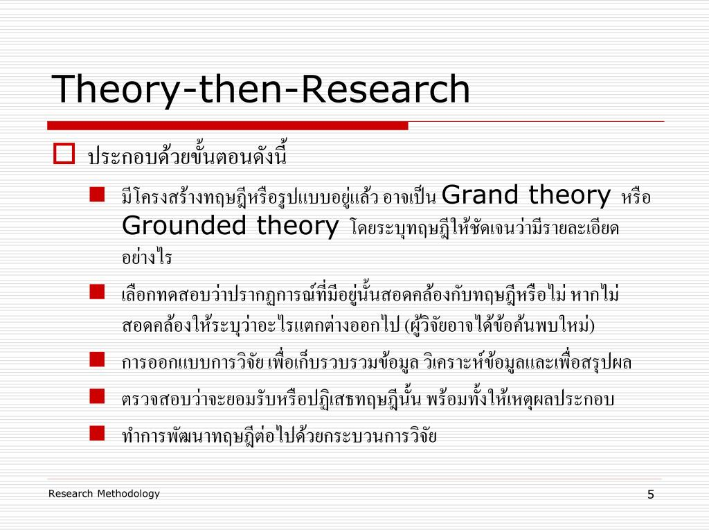 Theory-then-Research