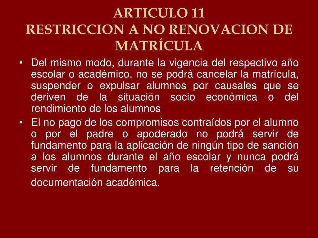 ARTICULO 11