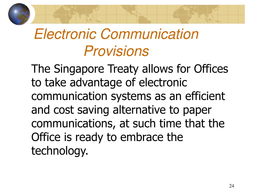 Electronic Communication Provisions