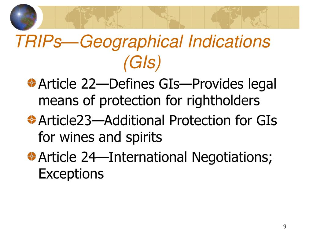 TRIPs—Geographical Indications