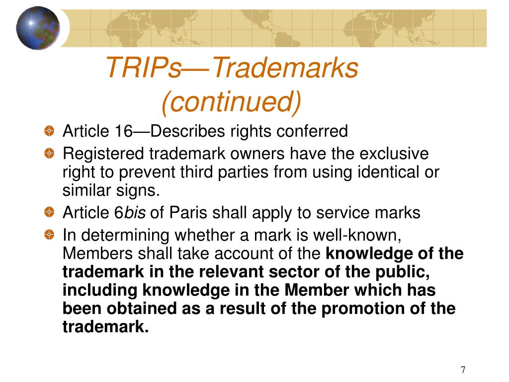 TRIPs—Trademarks