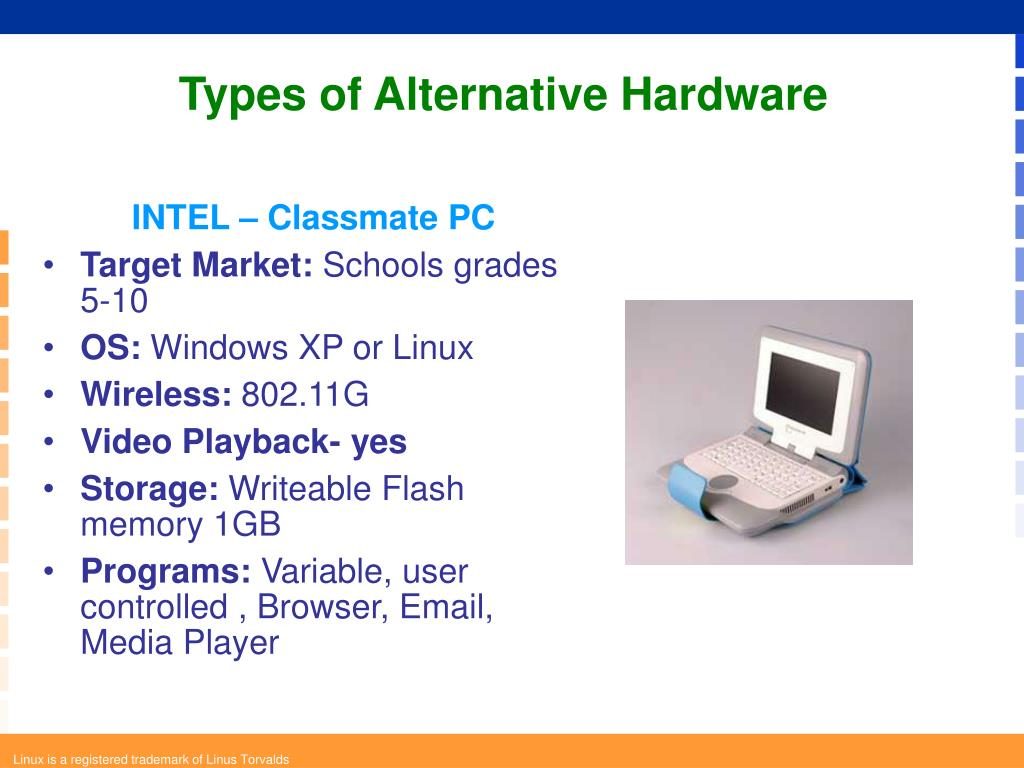 Types of Alternative Hardware