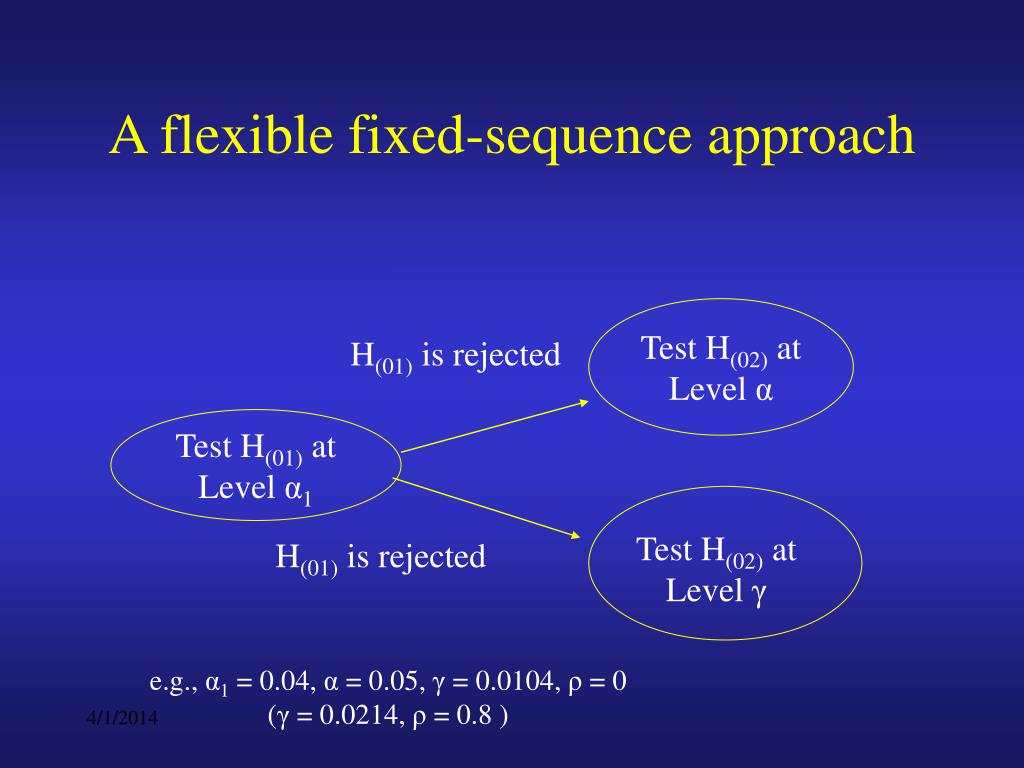 A flexible fixed-sequence approach
