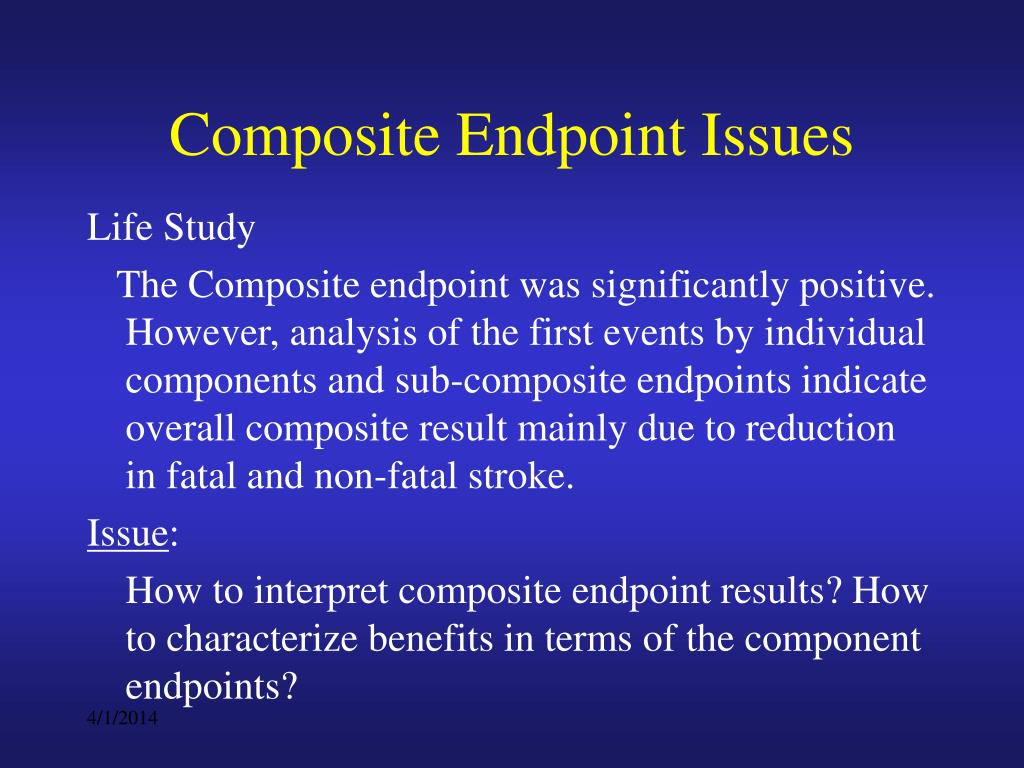 Composite Endpoint Issues