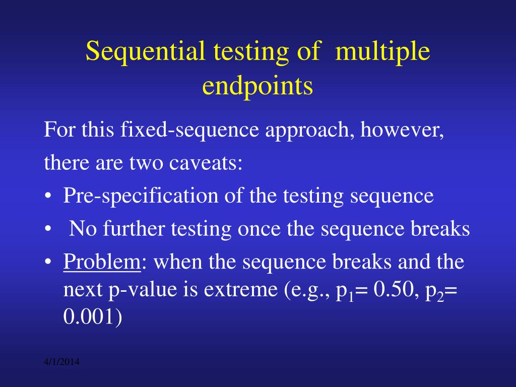 Sequential testing of  multiple endpoints