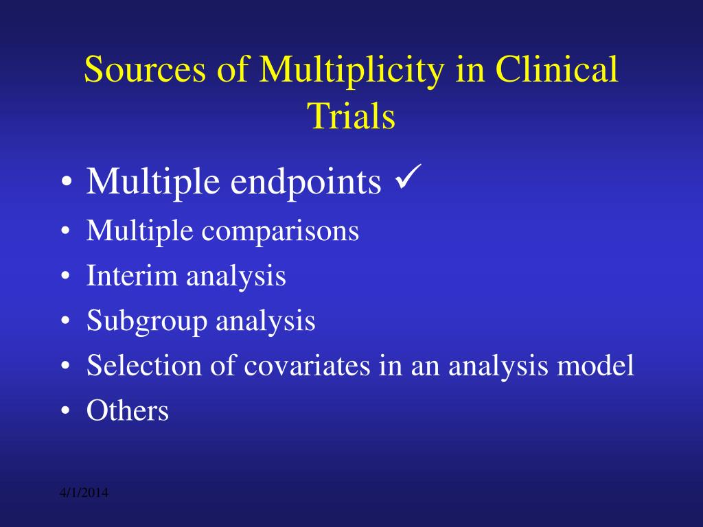 Sources of Multiplicity in Clinical Trials