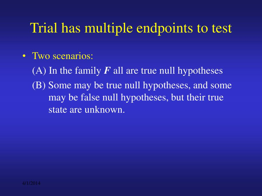 Trial has multiple endpoints to test