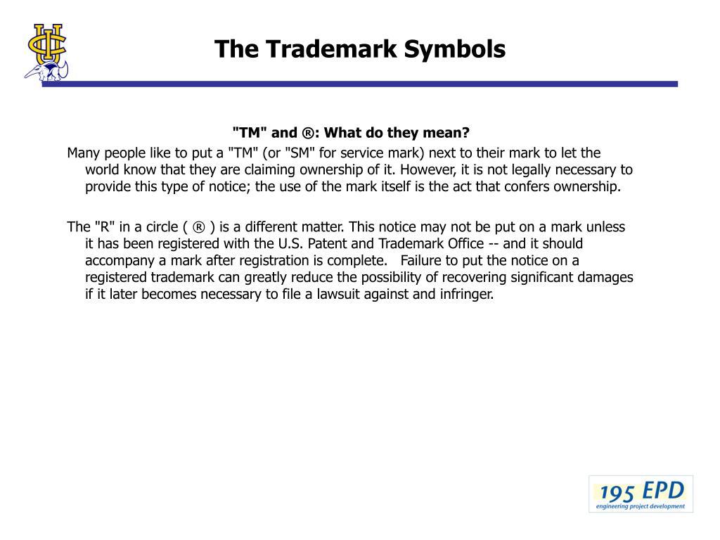 The Trademark Symbols