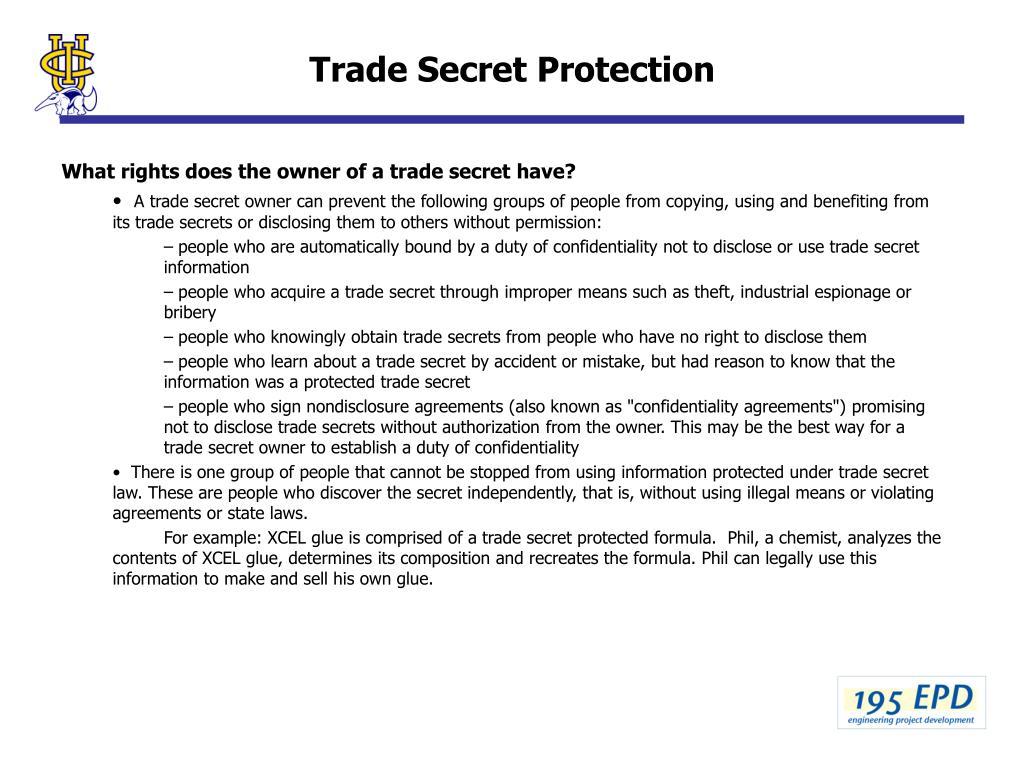 Trade Secret Protection
