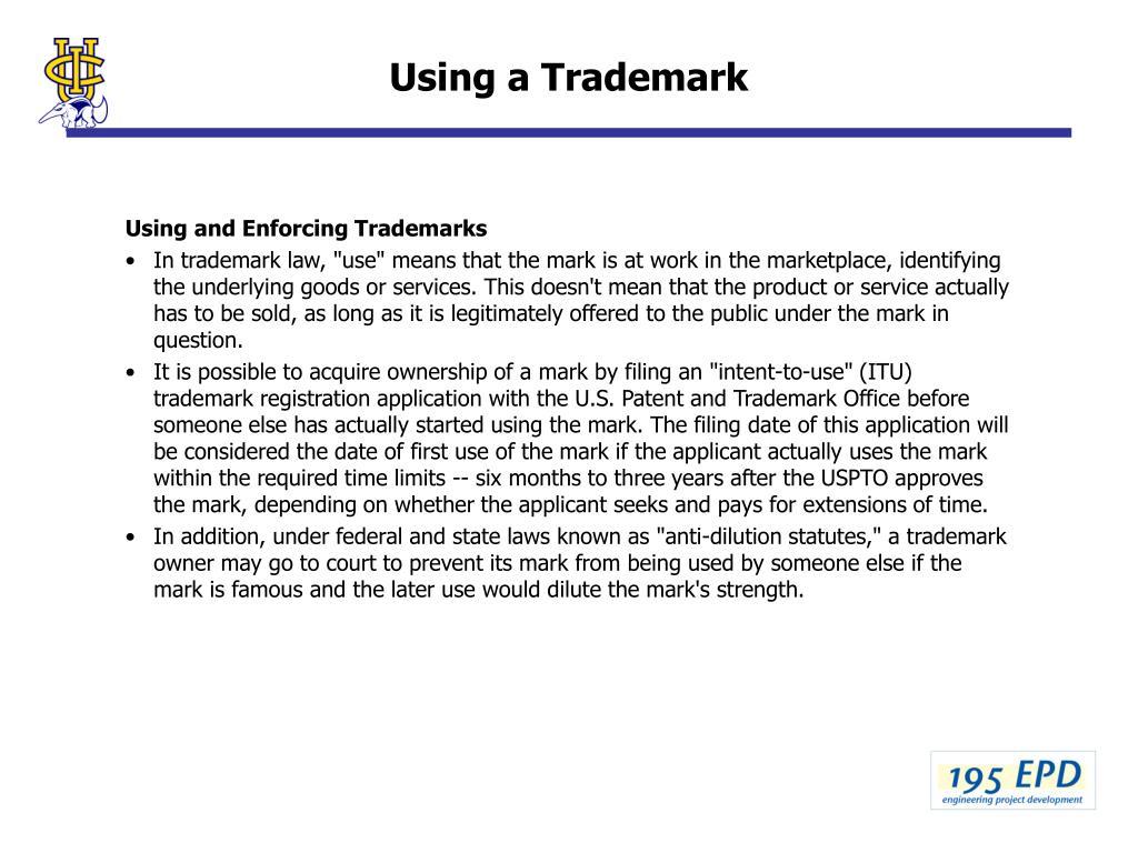 Using a Trademark