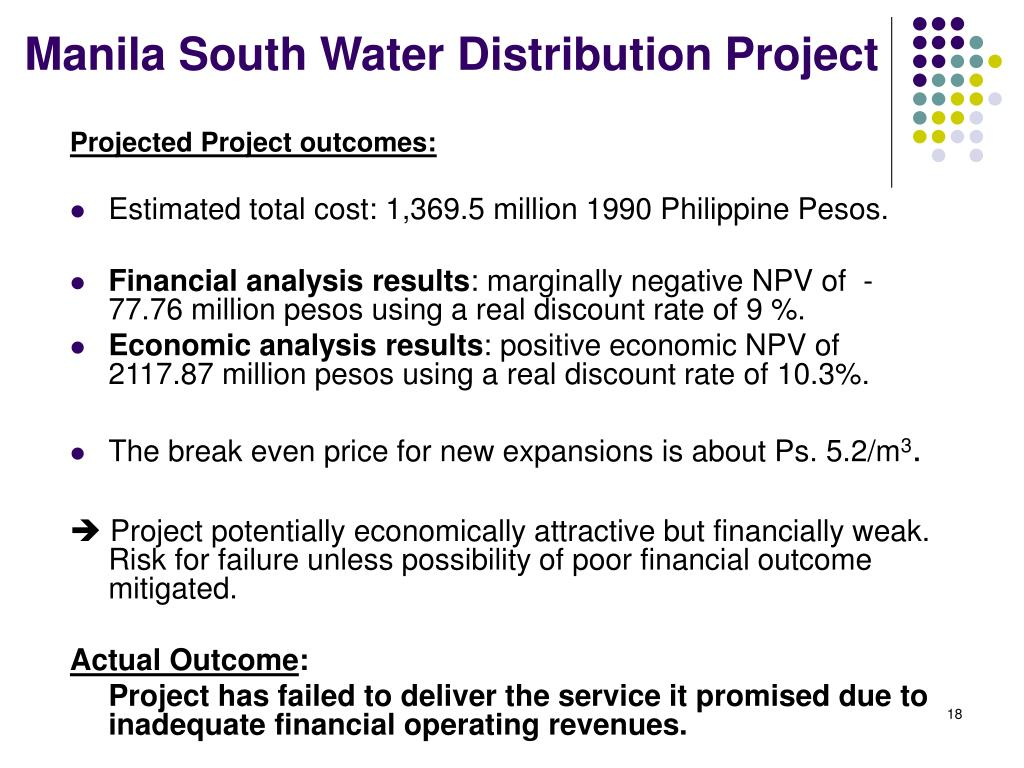 Manila South Water Distribution Project