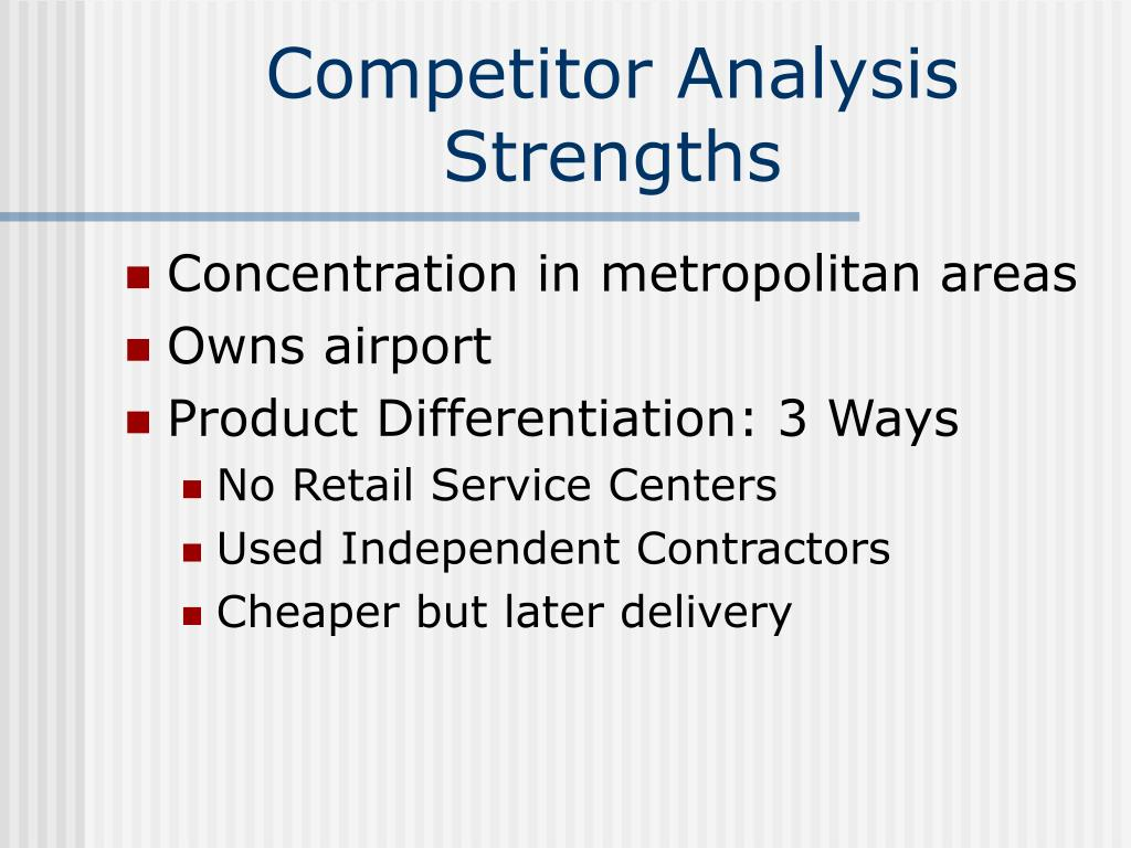Competitor Analysis Strengths