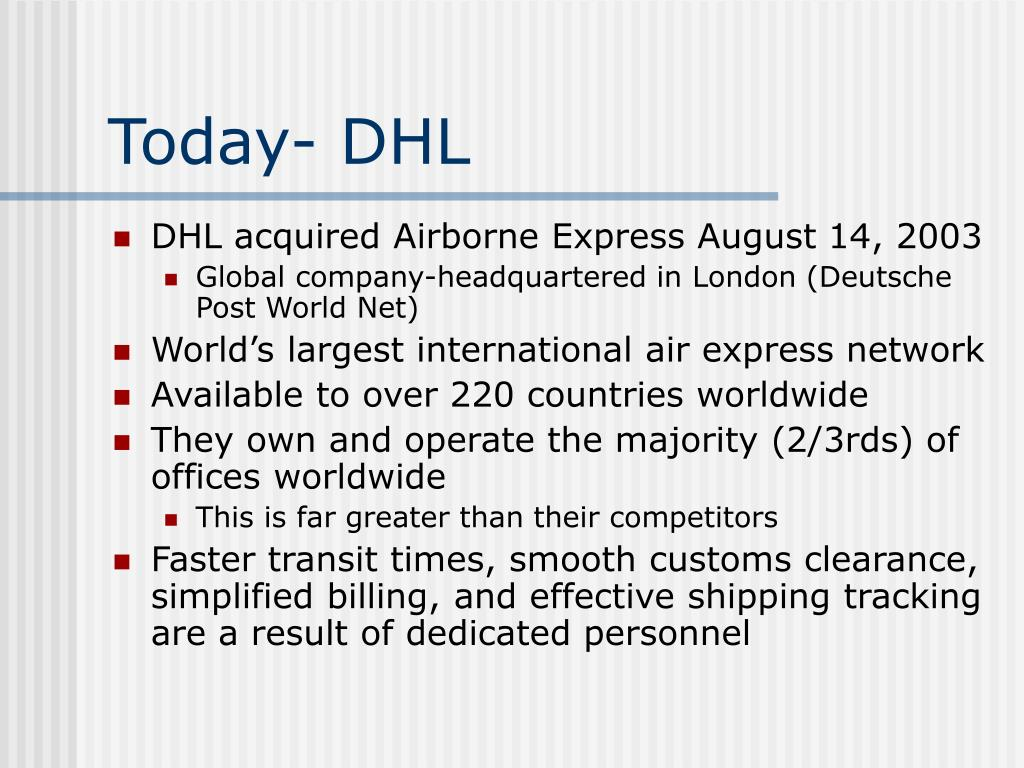 Today- DHL