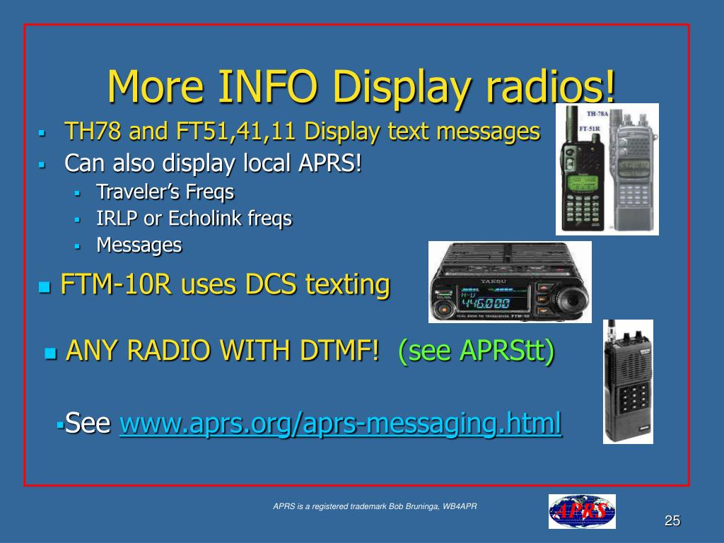 More INFO Display radios!