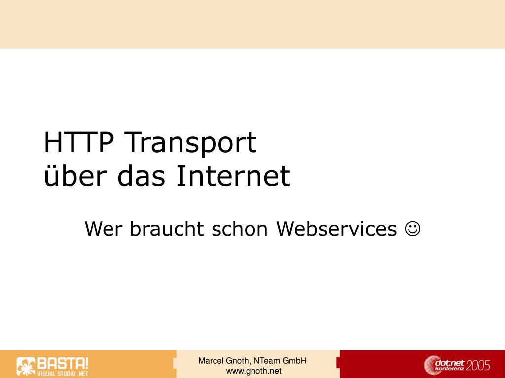 HTTP Transport