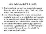 goldschmidt s rules
