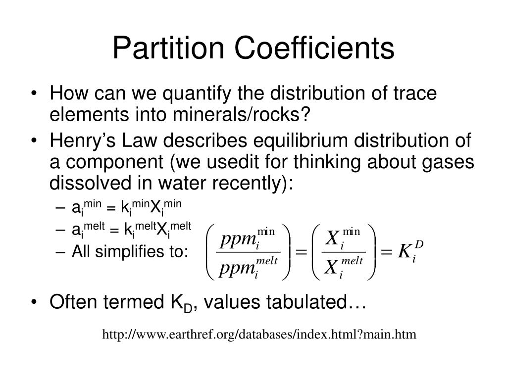 Partition Coefficients