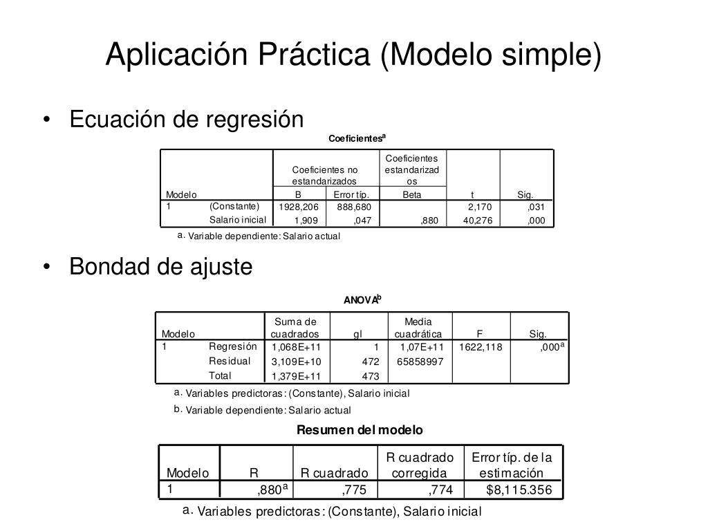 Aplicación Práctica (Modelo simple)