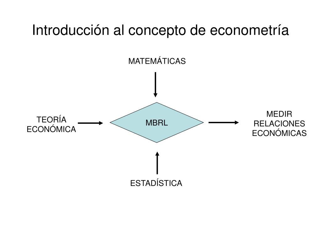 Introducción al concepto de econometría