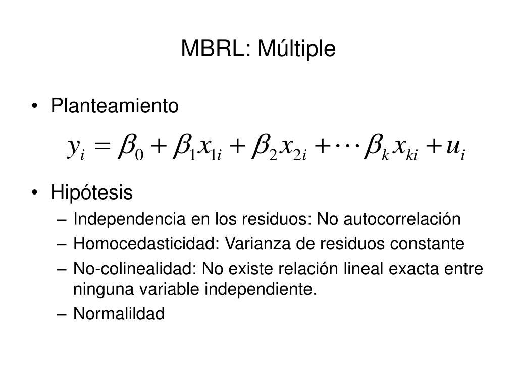 MBRL: Múltiple