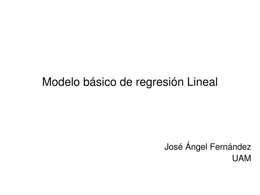 Modelo básico de regresión Lineal
