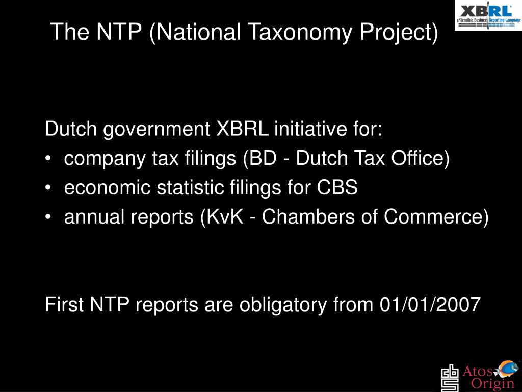 The NTP (National Taxonomy Project)