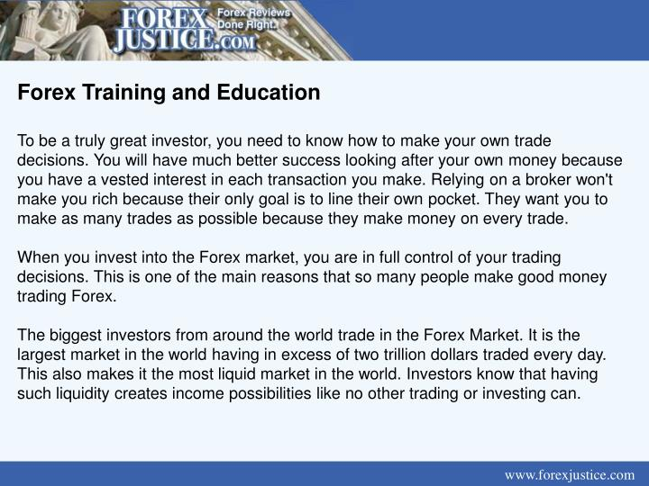 Forex Training and Education