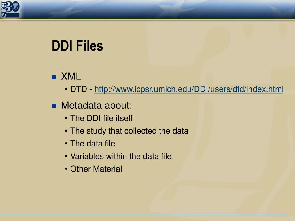 DDI Files