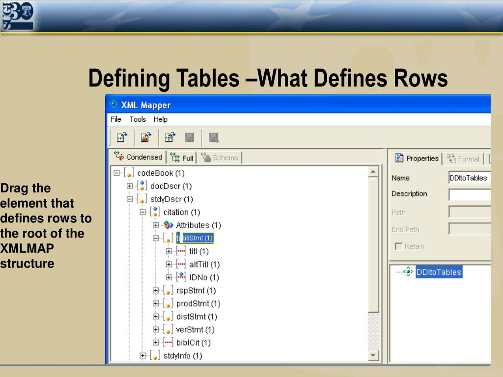 Defining Tables –What Defines Rows
