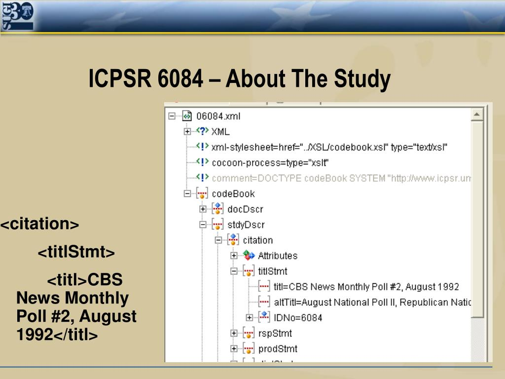 ICPSR 6084 – About The Study