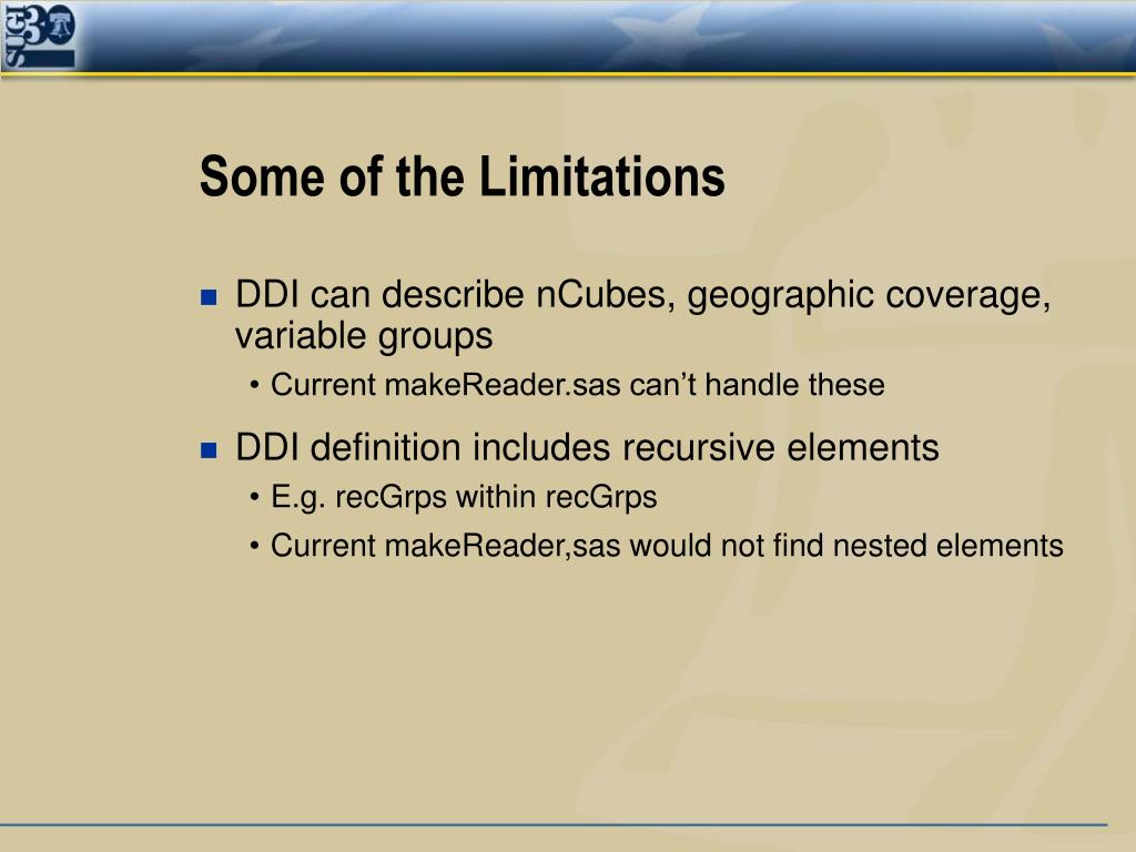 Some of the Limitations