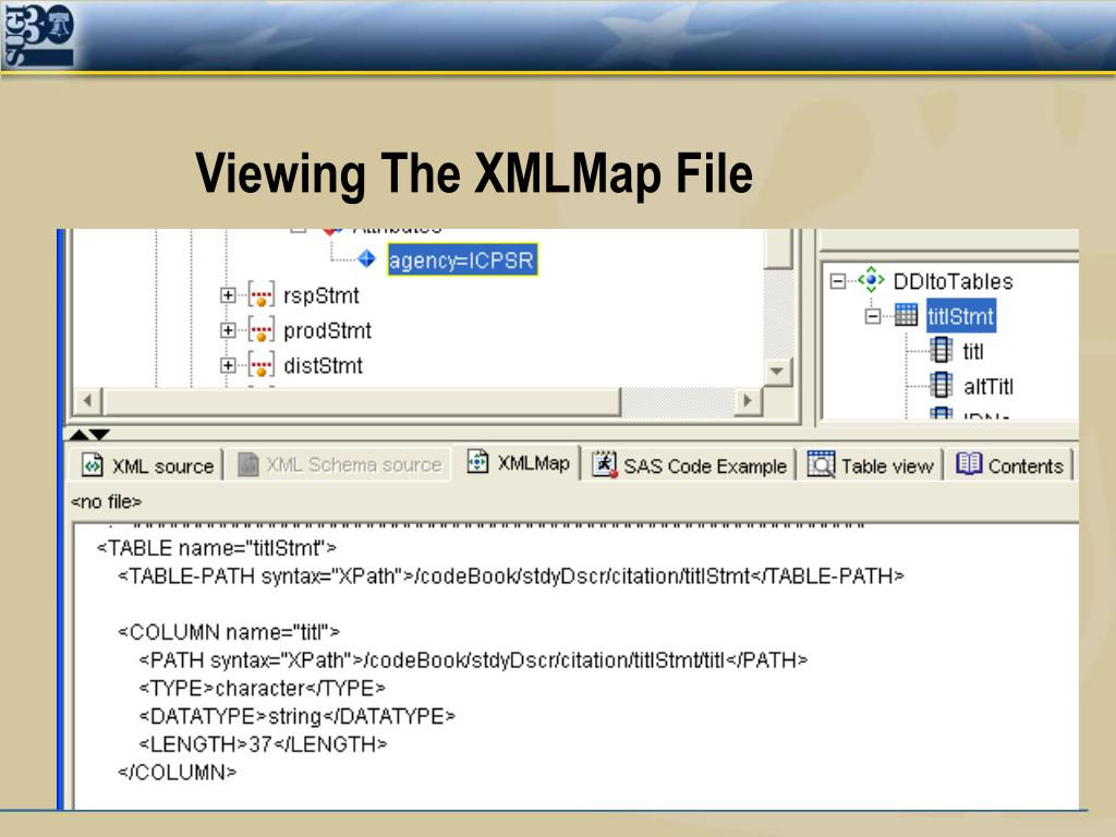 Viewing The XMLMap File