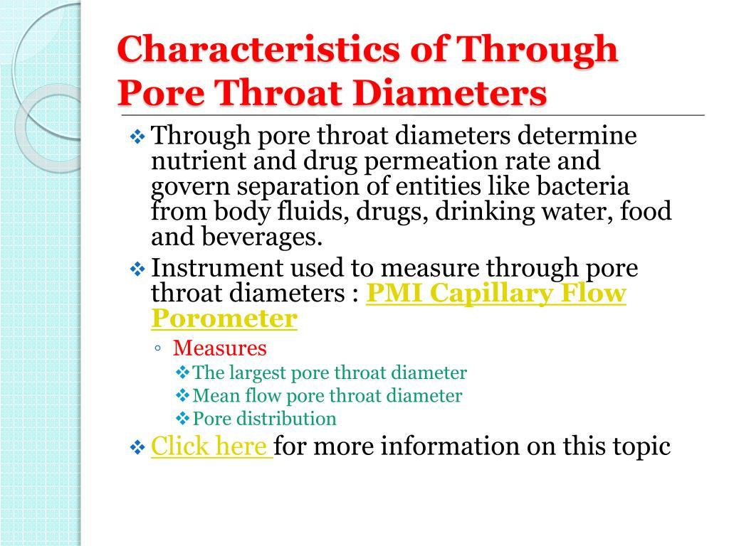 Characteristics of Through