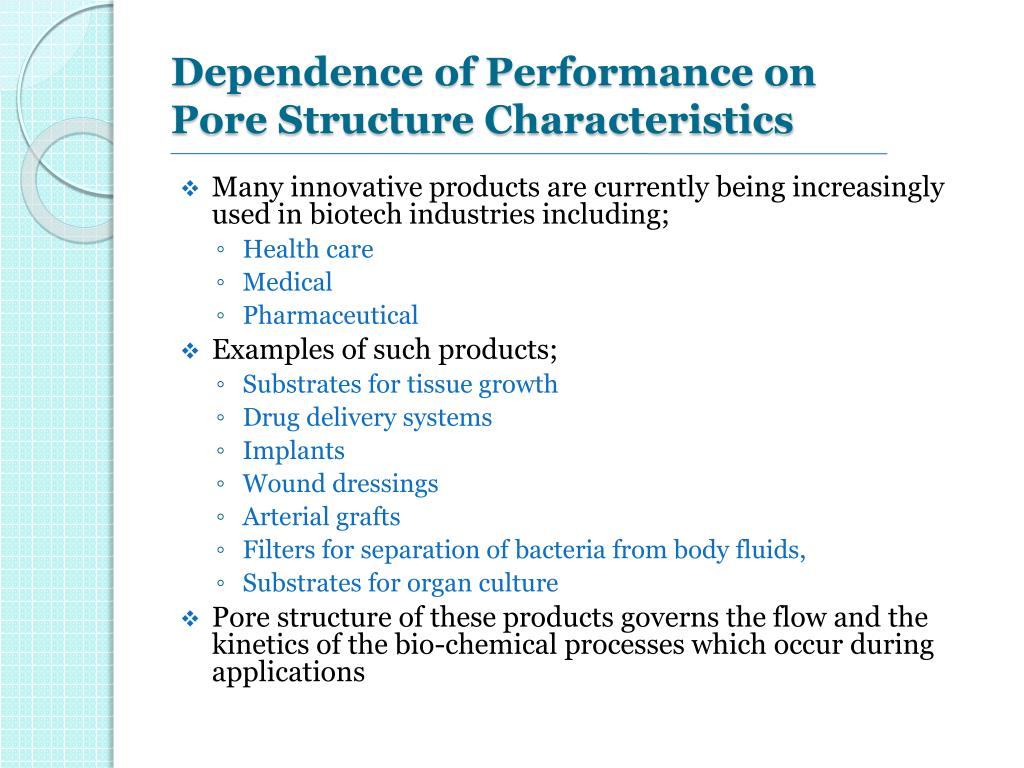 Dependence of Performance on